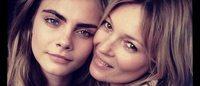 バーバリーが2人のトップモデル ケイト・モスとカーラ・デルヴィーニュを広告起用