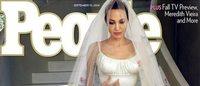 Angelina Jolie casou usando um vestido de noiva Versace