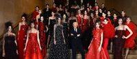 Paris Haute Couture: il rosso e nero appassionato di Armani Privé