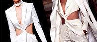 Balmain: une silhouette évoque une veste Givenchy de 1997
