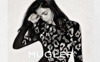 Mariacarla Boscono égérie de la nouvelle campagne automne-hiver de Mugler