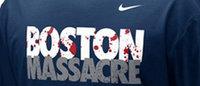 Nike отозвал из продажи футболки с надписью «Boston Massacre»
