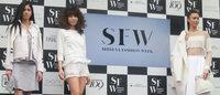 ハチ公前でショー 渋谷ファッションウィークで12施設が共同セレモニー開催
