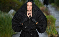Marine Serre's Marée Noire on a dark day at the racetrack opens Paris Fashion Week