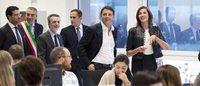 Matteo Renzi in visita all'headquarter di Yoox