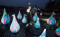 Canada Goose celebrates rain with color-changing raindrop installation