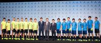 アディダス最新スパイク「X/ACE」発表会場に香川真司ら現役選手16名が集結