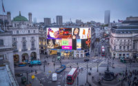 Piccadilly lights switched back on, fashion and beauty take starring role