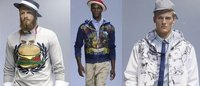 Menu of hamburger prints and denim ends Milan men's fashion week