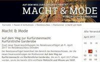 Macht und Mode – Waffen und Haute Couture der Renaissance in Dresden