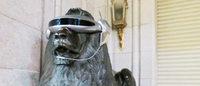 三越ライオン像がサイバー化? 近未来的な姿が話題に