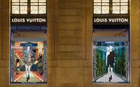 Louis Vuitton s'essaye aux vitrines digitales pour sa dernière collection
