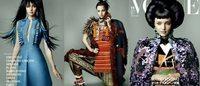 "Miranda Kerr se viste de ""geisha"" para la portada de Vogue Japón"