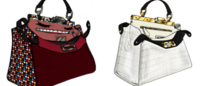 Famosas colaboram em nova coleção de bolsas da Fendi