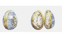Estilistas e grifes criam estampas para ovos de Páscoa Fabergé