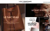 Printemps department store revamps website