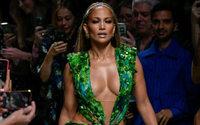 Tropical J.Lo glory at Empress Donatella's show