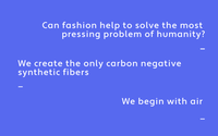 Polyester from pollution? Fashion's next generation goes green