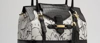 Parrisi features Hunt Slonem artwork on luxury handbag and scarf line