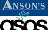 Anson's verklagt Asos