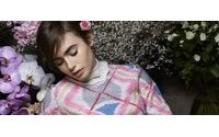 Lily Collins poses again for Karl Lagerfeld for Barrie