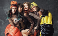 Gigi Hadid and Taylor Hill put their heads together for Versace fall campaign