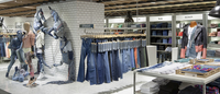 O jeans em queda nos EUA e em alta na Europa