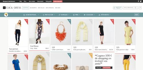 mode de luxe nouveaux styles vente chaude en ligne ClicknDress : le site de recommandations de vêtements par ...