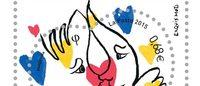 Castelbajac signe des timbres pour la Saint-Valentin