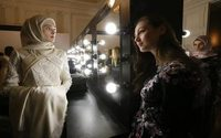 Chechnya's first daughter shows off fashion collection