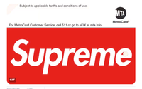 Supreme launches MetroCard with New York City transit