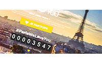 ParisWeLoveYou : 15 000 mentions pour l'opération de soutien à Paris