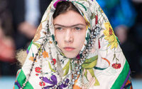 Monobrows and green lipstick: beauty looks from day one of Milan Fashion Week