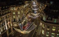 Regent Street celebrates festive season with Christmas lights launch