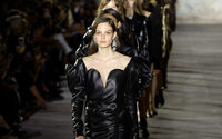Vaccarello goes hell for leather at Saint Laurent