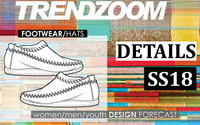 Trendzoom: Design Forecast Accessories Footwear & Hats S/S 18