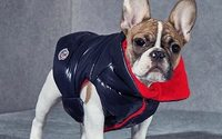 Moncler treats dogs to their own version of its iconic padded jacket