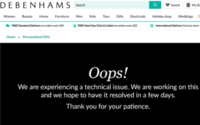Debenhams cyber attack sees personalised gift site suspended