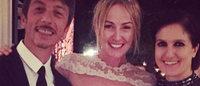 前 Gucci 情侣档罗马举办婚礼,婚纱出自 Valentino