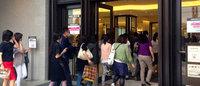 2週間遅い伊勢丹新宿の夏セール盛況 15分前倒しスタート
