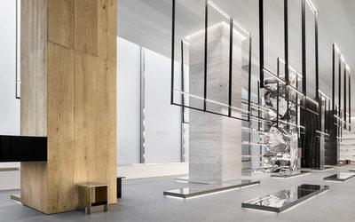 celine le nouvel am nagement des boutiques d voil new york actualit distribution. Black Bedroom Furniture Sets. Home Design Ideas