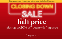 Debenhams launches closing down sale with no news on a deal
