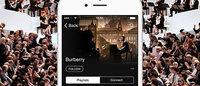 Burberry провела трансляцию показа на платформе Apple TV