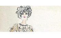 Croquis desenhados por Karl Lagerfeld vão a leilão