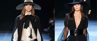 Saint Laurent: sconcerto per la neo hippy in nero