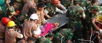"""Bangladesh: la miraculée du Rana Plaza va """"très bien"""" et n'avait jamais perdu espoir"""