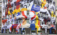 Dior's Paris store in avenue Montaigne morphs into giant protest banner