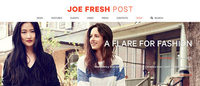 Joe Fresh joins the blogosphere