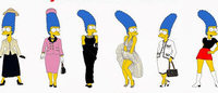 Marge Simpson joue la top-model