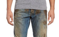$425 jeans coated with fake dirt go viral